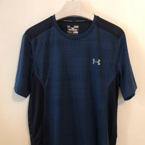 Under Armour Heatgear Shirt Navy Blue Small Gym